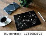 organisational structure ... | Shutterstock . vector #1156083928