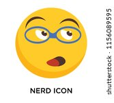 nerd icon vector isolated on... | Shutterstock .eps vector #1156089595