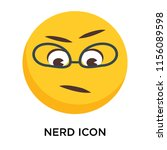 nerd icon vector isolated on... | Shutterstock .eps vector #1156089598