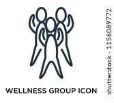 wellness group icon vector... | Shutterstock .eps vector #1156089772