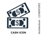 cash icon vector isolated on... | Shutterstock .eps vector #1156091092