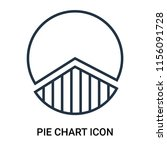 pie chart icon vector isolated...