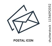 postal icon vector isolated on... | Shutterstock .eps vector #1156092052