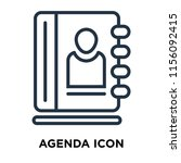 agenda icon vector isolated on... | Shutterstock .eps vector #1156092415