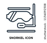 snorkel icon vector isolated on ... | Shutterstock .eps vector #1156092508