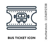 bus ticket icon vector isolated ... | Shutterstock .eps vector #1156092538