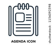 agenda icon vector isolated on... | Shutterstock .eps vector #1156092598