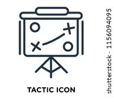 tactic icon vector isolated on... | Shutterstock .eps vector #1156094095