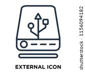 external icon vector isolated...