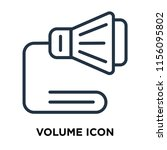 volume icon vector isolated on... | Shutterstock .eps vector #1156095802