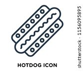 hotdog icon vector isolated on... | Shutterstock .eps vector #1156095895
