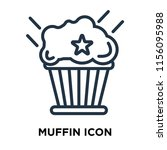muffin icon vector isolated on... | Shutterstock .eps vector #1156095988