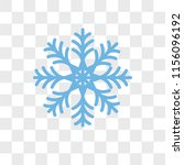 snowflake vector icon isolated... | Shutterstock .eps vector #1156096192
