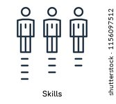 skills icon vector isolated on... | Shutterstock .eps vector #1156097512