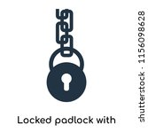 locked padlock with chain icon... | Shutterstock .eps vector #1156098628