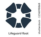 lifeguard float icon vector... | Shutterstock .eps vector #1156098868