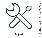 adjust icon vector isolated on... | Shutterstock .eps vector #1156099225