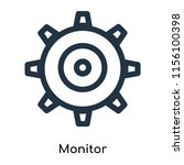 monitor icon vector isolated on ... | Shutterstock .eps vector #1156100398