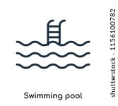 swimming pool icon vector... | Shutterstock .eps vector #1156100782