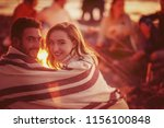 young couple enjoying with... | Shutterstock . vector #1156100848