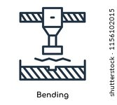 bending icon vector isolated on ... | Shutterstock .eps vector #1156102015