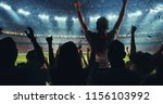 fans celebrating the success of ...   Shutterstock . vector #1156103992