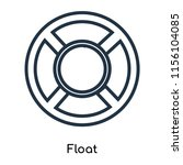 float icon vector isolated on... | Shutterstock .eps vector #1156104085