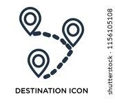 destination icon vector... | Shutterstock .eps vector #1156105108