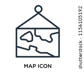 map icon vector isolated on... | Shutterstock .eps vector #1156105192