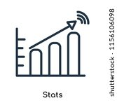 stats icon vector isolated on... | Shutterstock .eps vector #1156106098
