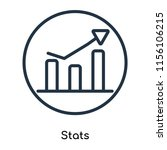 stats icon vector isolated on... | Shutterstock .eps vector #1156106215