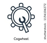 cogwheel icon vector isolated... | Shutterstock .eps vector #1156106272