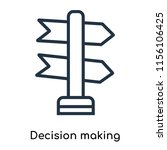 decision making icon vector... | Shutterstock .eps vector #1156106425