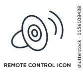 remote control icon vector... | Shutterstock .eps vector #1156108438