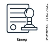 stamp icon vector isolated on... | Shutterstock .eps vector #1156109662