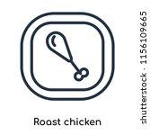 roast chicken icon vector... | Shutterstock .eps vector #1156109665