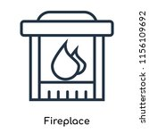 fireplace icon vector isolated...   Shutterstock .eps vector #1156109692