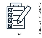 list icon vector isolated on...