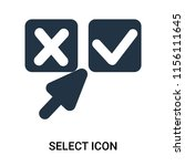 select icon vector isolated on... | Shutterstock .eps vector #1156111645