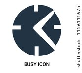 busy icon vector isolated on... | Shutterstock .eps vector #1156111675