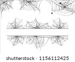 halloween spiderweb vector... | Shutterstock .eps vector #1156112425
