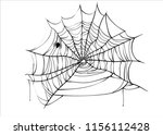 halloween spiderweb vector with ... | Shutterstock .eps vector #1156112428
