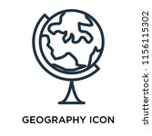geography icon vector isolated... | Shutterstock .eps vector #1156115302