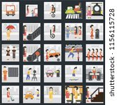 set of 25 icons such as stairs  ...