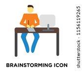 brainstorming icon vector... | Shutterstock .eps vector #1156119265