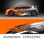 car decal design vector.... | Shutterstock .eps vector #1156121962
