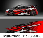 car decal design vector.... | Shutterstock .eps vector #1156122088
