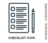 checklist icon vector isolated...