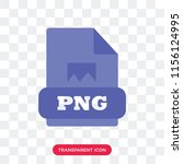 png vector icon isolated on... | Shutterstock .eps vector #1156124995