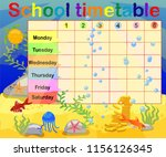design of the school timetable... | Shutterstock .eps vector #1156126345
